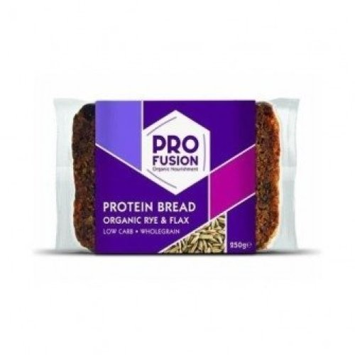 Profusion - Org Protein Bread - Rye & Flax 250g