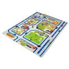 Little Helper 3D Childrens Play Mat Rug Town Traffic Design 80x100cm