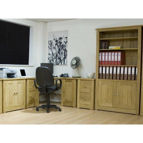 Torino Oak Furniture Corner Office Desk Package