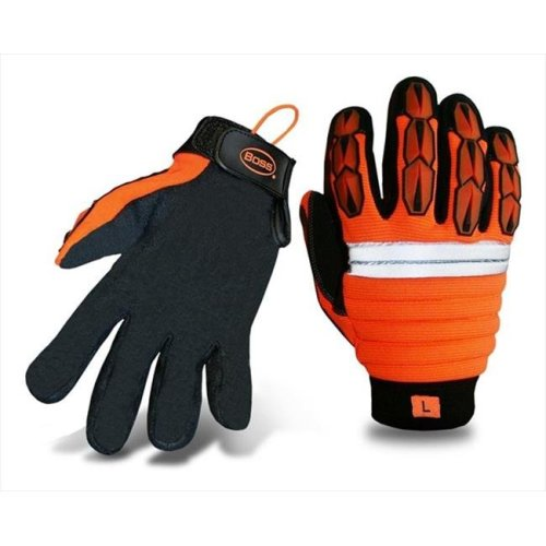 Boss 1JM4002X XXL Mechanics Style Miner Gloves in High Visibility - Pack of 6