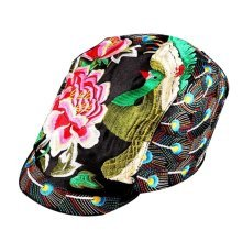 Peacock Pattern Chinese Style Sun Hats Embroidered Hat Sport Cap Leisure Cap