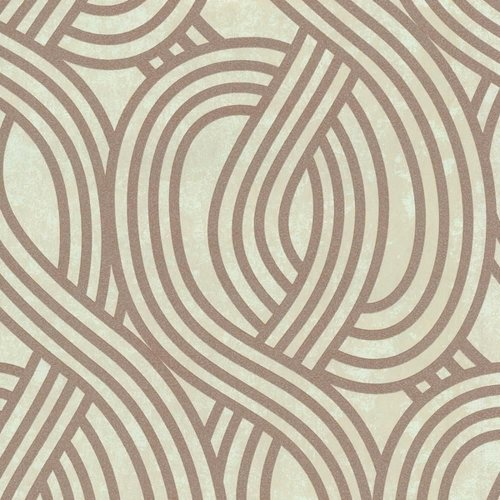 NEW P&S WAVE STRIPE TEXTURED GLITTER MOTIF METALLIC EMBOSSED WALLPAPER ROLL[COPPER 13345-40]