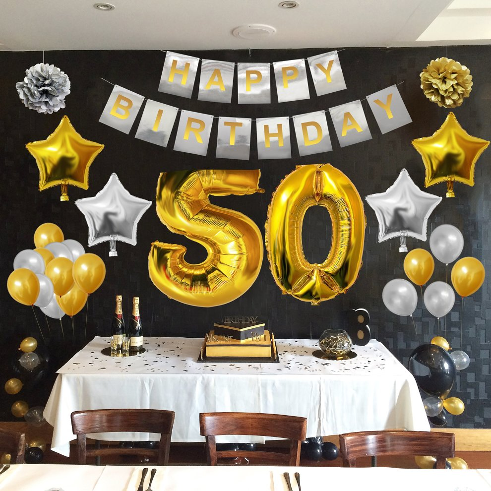 Latex BELLE VOUS 50th Birthday Decorations