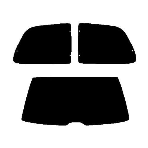Pre cut window tint - Citroen Saxo 3-door - 1996 to 2002 - Rear windows