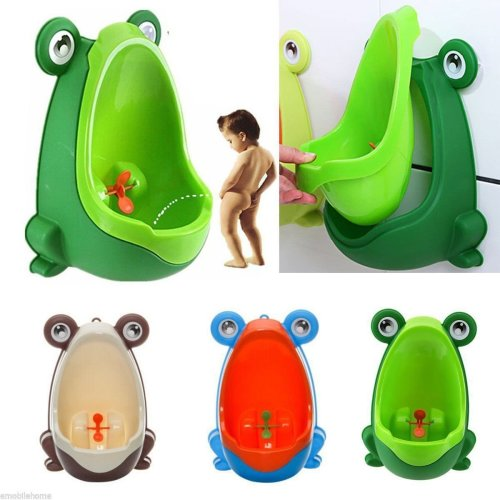 Frog Kids Potty Toilet For Child Boys unrinate Trainer Training Urinal
