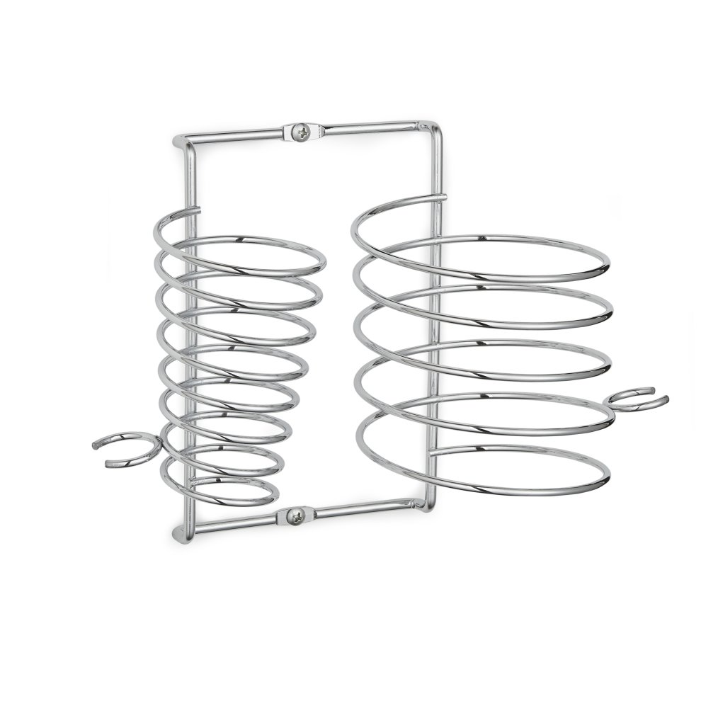 chrome hairdryer  u0026 straightener holder