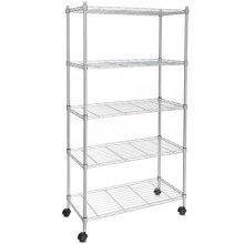 Homdox 5-Shelf Shelving Unit on Wheels wire shelves Commercial shelving ,shelving unit or garage shelving, Kitchen storage racks