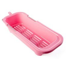 Dish Drainer Rack Collapsible Over Sink Dish Drainer PINK