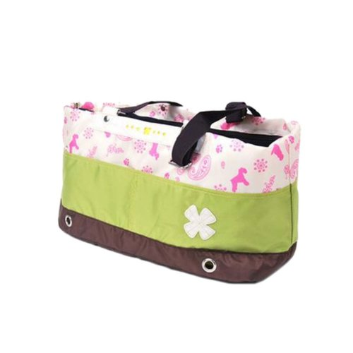 Portable Soft Pet Carrier Tote Bag for Dogs and Cats (L55×W17×H26cm, Green)