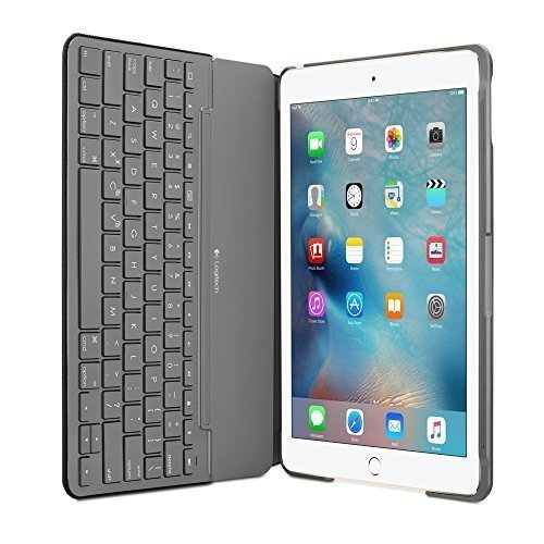 Logitech Canvas Keyboard Case for iPad Air 2 - Black UK Layout