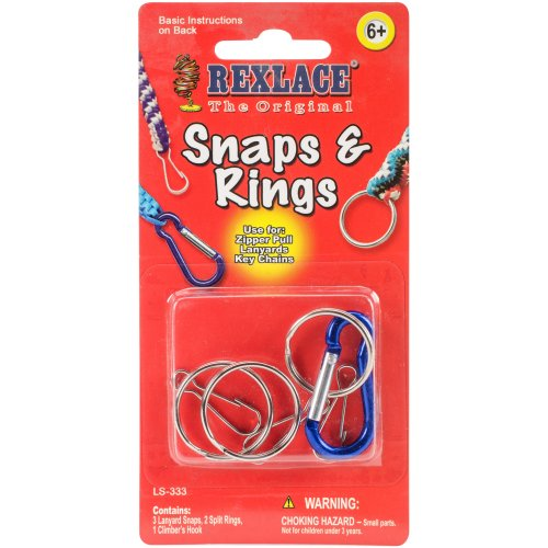 Rexlace Snaps & Rings-Nickel 7/Pkg
