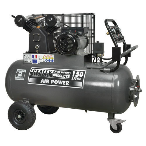 Sealey SAC3153B 150ltr Belt Drive Compressor 3hp with Front Control Panel