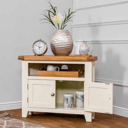 Hampshire Ivory Painted Oak Corner TV Unit