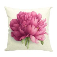 Flower Pattern Cotton Linen Pillow Case Pillow Cover Country Style,No.5