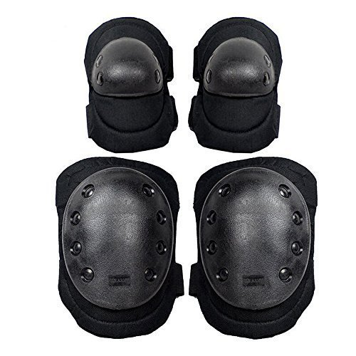 G-i-Mall Military Tactical Elbow & Knee Airsoft Protective Pads For Combat Extreme Sport Gear CS Game Skateboarding Skating Hunting Outdoor Equip /...