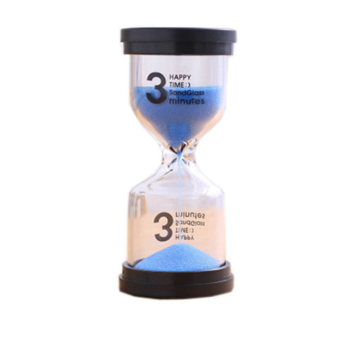 Colorful Sand Timer Hourglass Sandglass Small Ornaments Dropping Ueasily, 3 minutes + Blue