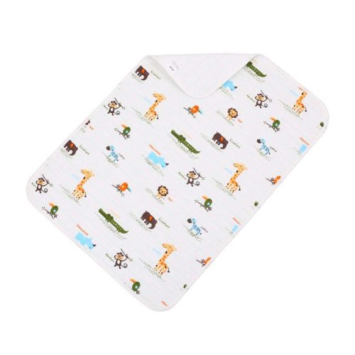 2 pieces Baby Portable Diaper Changing Pad Washable Waterproof Baby Pad B, 40x50cm