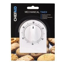 Chef Aid Mechanical Cooking Timer - White -  mechanical timer chef aid cooking white