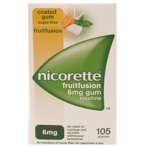 Nicorette Fruitfusion 6mg gum 105 Pieces