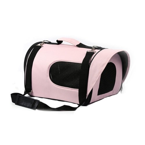 Pet Carrier Soft Sided Travel Bag for Small dogs & cats- Airline Approved, Pink #46