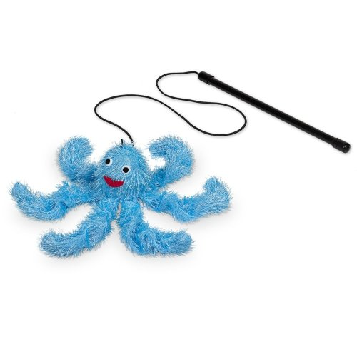 Nobby Rod With Octopus With Catnip, Black/Blue