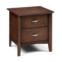 Broze 2 Drawer Bedside Chest in Wenge - Assembled Option Available