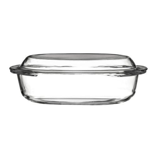 Tempered Glass Casserole Dish with Lid, 1.5 Litre