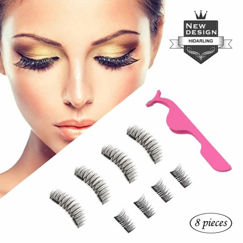 6454f5b1f18 Magnetic Eyelashes [No Glue] HIDARLING Reusable 3D Full Eye Dual Magnetic False  Eyelashes Set Handmade Soft and Long Fake Lashes Extensions with... on OnBuy