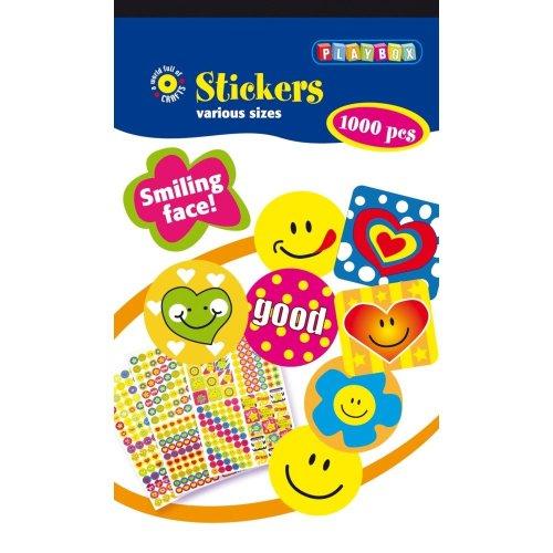 Pbx2470625 - Playbox - Sticker Pad (smiley) - 1000 Pcs