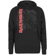 Iron Maiden Women's Hi Con Trooper Long Sleeve Hoodie, Black, Small