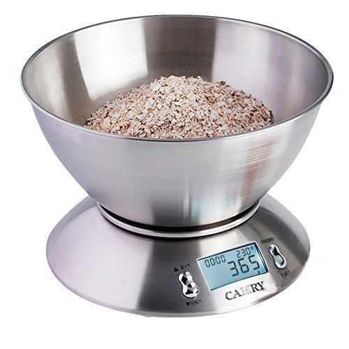 Camry Digital Stainless Steel Kitchen Scale & 2.15L Bowl