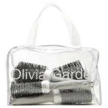 Olivia Garden Ceramic + Ion™ Thermal Round Hair Brushes Bag 5pcs (20, 25, 35, 45, 55mm) - Anti-Static, Tourmaline-Ion & Nylon Bristles