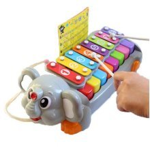 Hammer Percussion Hand Knock Children Music Toy Piano--Elephant