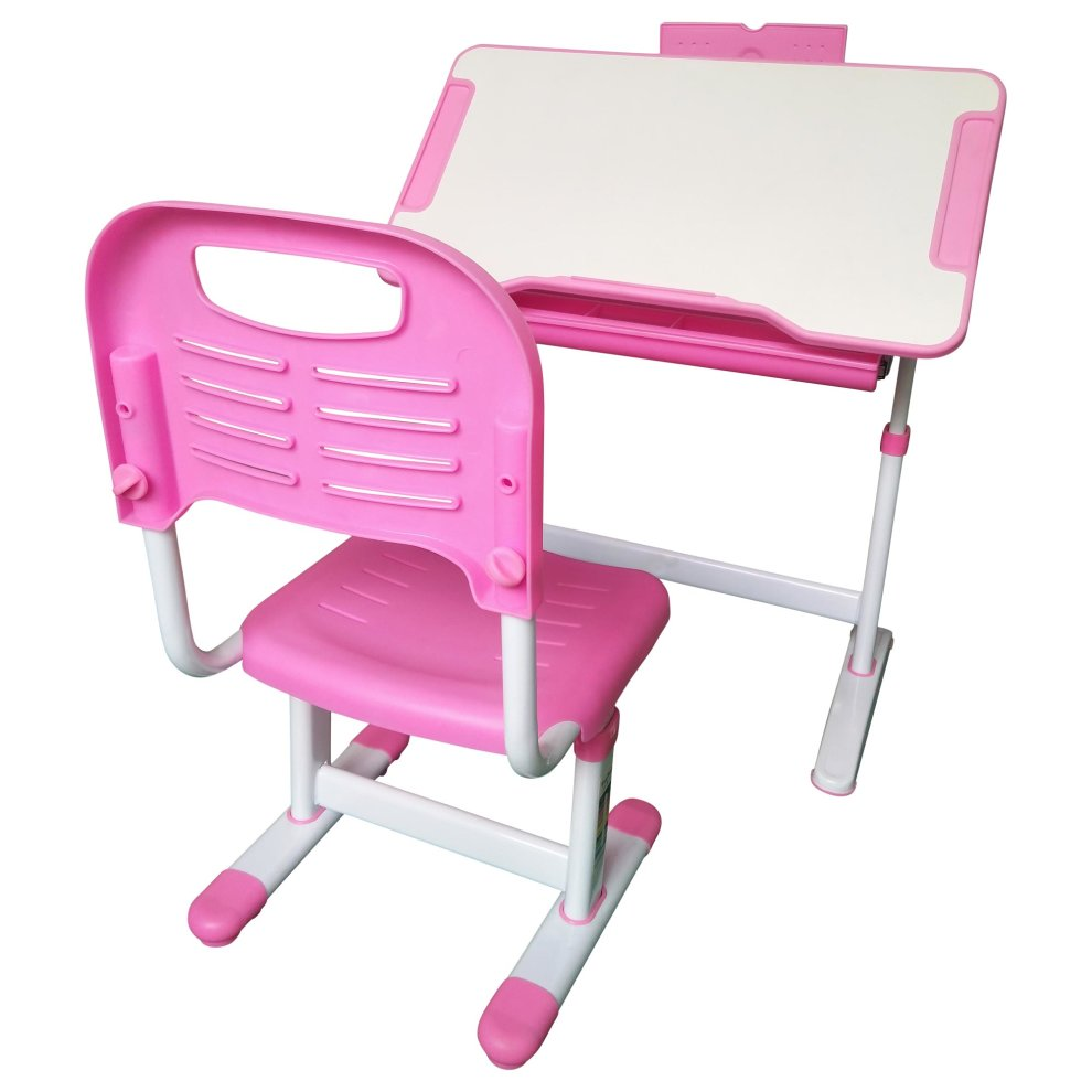Height Adjustable Kids Study Desk Chair Ergonomic Children