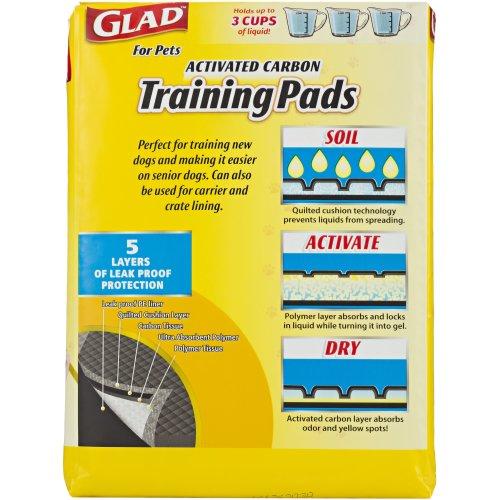 Glad Activated Carbon Training Pads 14/Pkg-