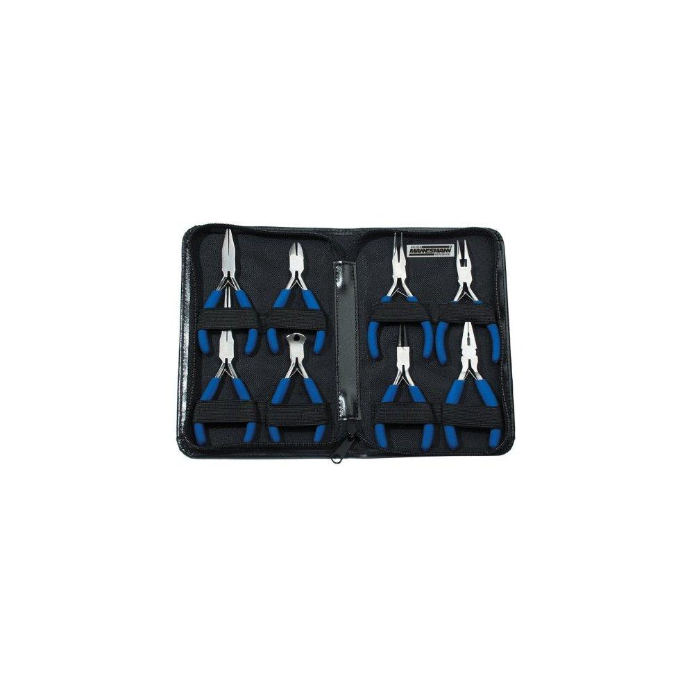 Mannesmann Electronic Plier Set in Mannesmann Color Box 8 Pieces