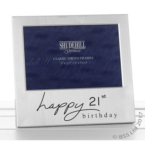 Happy 21st Birthday 5 x 3 photo Frame by Shudehill giftware