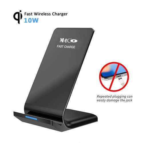 Qi Wireless Charger, MECO 2 Coils Wireless Fast Charger Stand for Samsung  Galaxy Note 8/ S9/ S8 Plus/ S8/ S7 Edge/ S7/ Note 5, Standard Charging