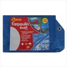 8ft x 6ft Garden Tarpaulin -  tarpaulin ground sheet waterproof heavy duty cover camping 6ft x 8ft