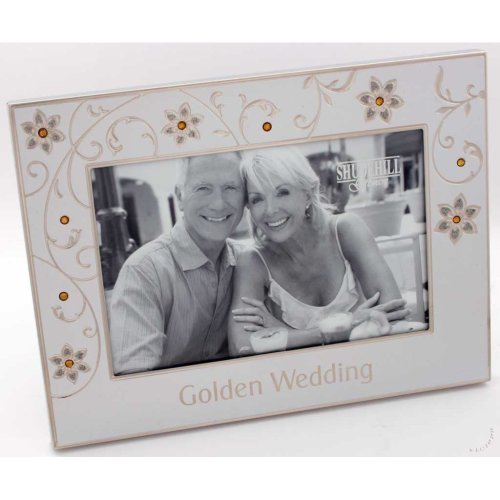 "Golden Wedding 50th Anniversary 6"" x 4"" Photo Frame"
