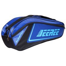 Adjustable Shoulder Strap Badminton Racket Cover Badminton Racket Bag Tennis Bag (6 Racquet), Blue