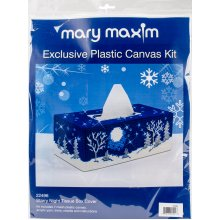 "Mary Maxim Plastic Canvas Tissue Box Kit 4.5""X9""X3.5""-Starry Night (7 Count)"