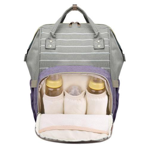 Miss Lulu Baby Diaper Nappy Bag Changing Backpack School Bag Purple