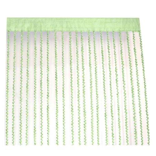 Spiral Pattern Door String Curtain Livingoom Divider Strip Curtain, Green