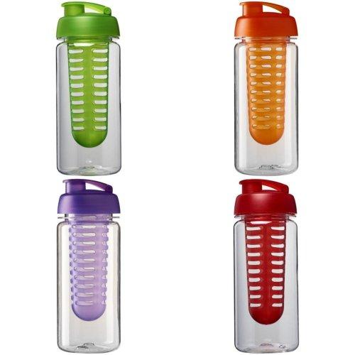 H2O Octave Tritan 600ml Flip Lid Bottle And Infuser