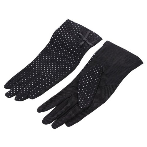 Women Cycling Gloves Bicycle Riding Gloves Lace Bike Gloves Black
