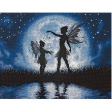 """Dimensions Counted Cross Stitch Kit 14""""X11""""-Twilight Silhouette (14 Count)"""