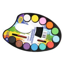Solid Paint Palette Sketch Painting Art Supplies With A Small Brush