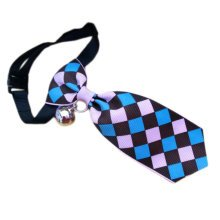 England Style Pet Collar Tie Adjustable Bowknot Cat Dog Collars with Bell-B12