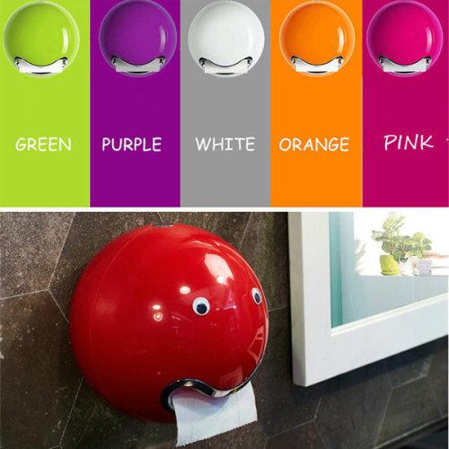 Creative Waterproof Toilet Paper Holder Colorful Ball Plastic Bathroom Roll Paper Holder